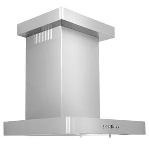 ZLINE Convertible Vent Wall Mount Range Hood in Stainless Steel with Crown Molding (KECRN) [Size: 24 inch] -