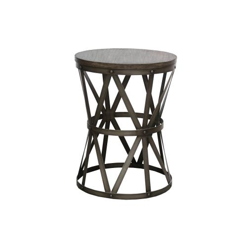 Capris Furniture - Lamp Table, Available in Silver Iron Finish Only.