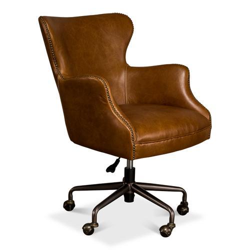 Andrew Jackson Desk Chair, Cuba Brown