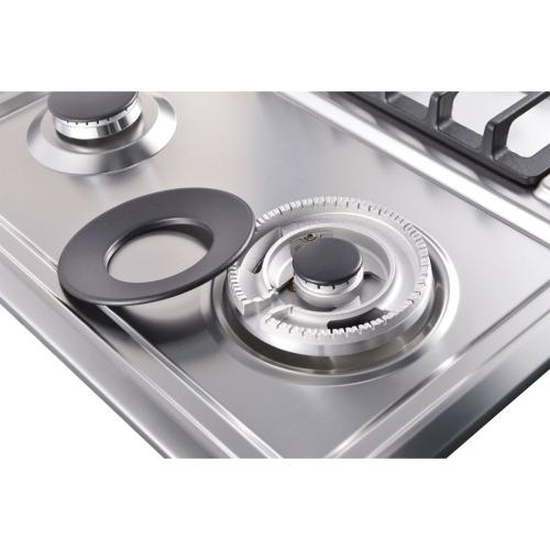 """Galanz - 24"""" Gas Cooktop in Stainless Steel"""