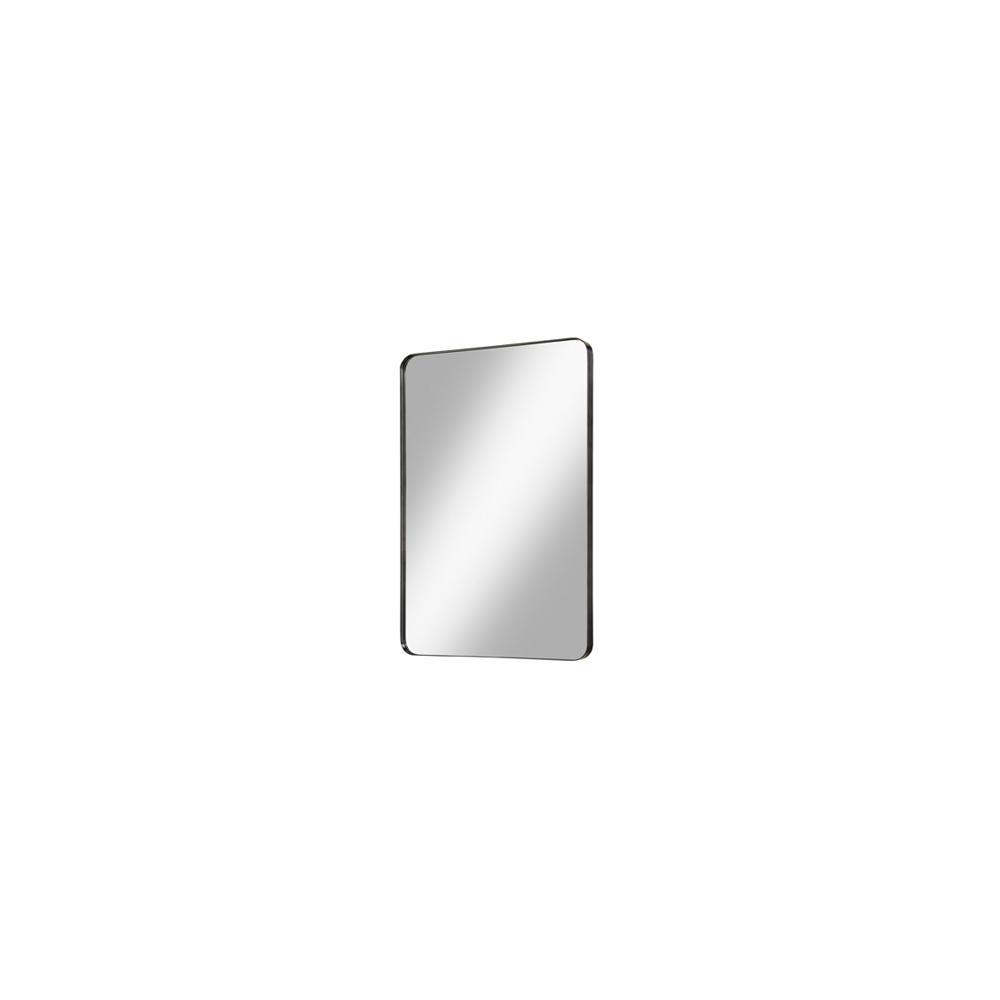 "Reflections 24"" Metal Frame Mirror - Matte Black"