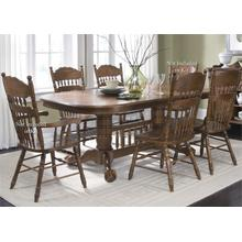 View Product - Double Pedestal Table