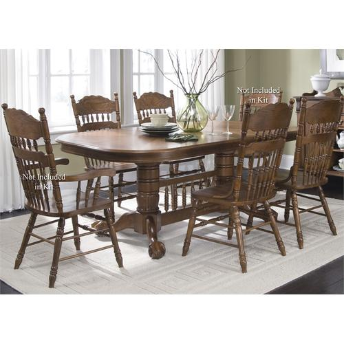 Liberty Furniture Industries - Double Pedestal Table