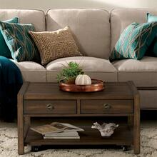 View Product - Perspectives - Small Coffee Table - Brushed Acacia Finish