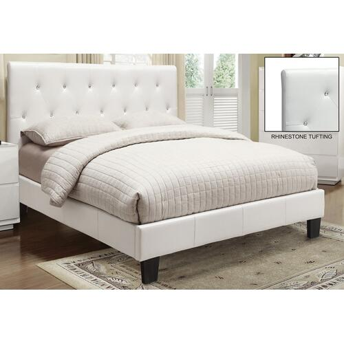 "Glitz 60"" Queen Platform Bed in White"