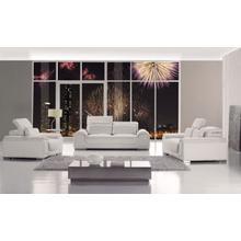 Divani Casa T93 - White Bonded Leather Sofa Set