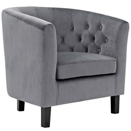 Prospect 2 Piece Performance Velvet Loveseat and Armchair Set in Gray