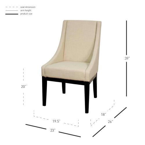 Houston Fabric Chair, Linen