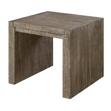 Cubix Square End Table, Tobacco Brown T273-01