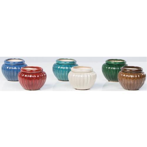 "6"" Round Self-Watering Pot Assortment 6 ,ixed/ctn"