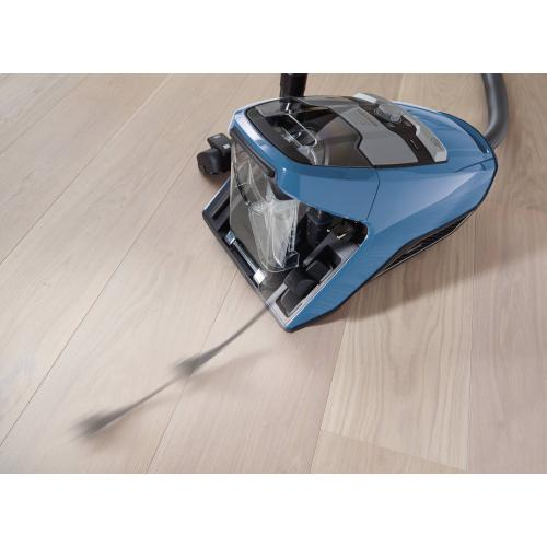 Bagless canister vacuum cleaners with turbo brush for hard floor and low, medium-pile carpeting.
