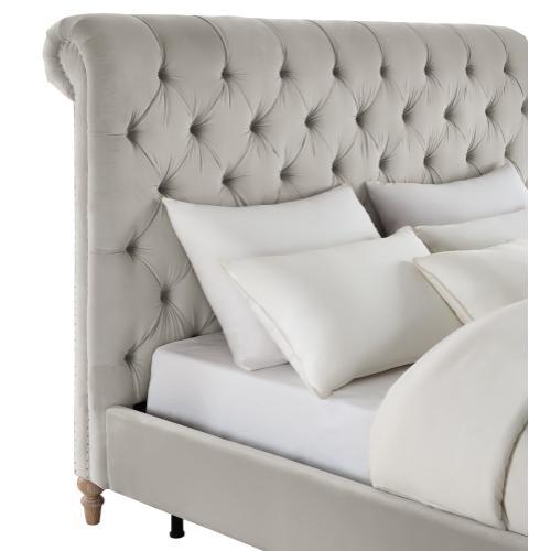 Tov Furniture - Putnam Grey Velvet King Bed