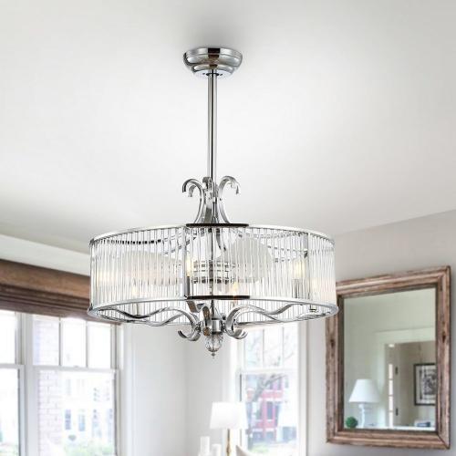 Safavieh - Geneve Ceiling Light Fan - Silver