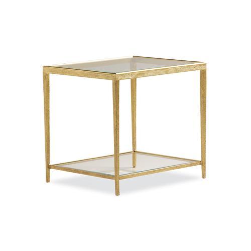 Maitland-Smith - JINX BRASS RECTANGLE SIDE TABLE