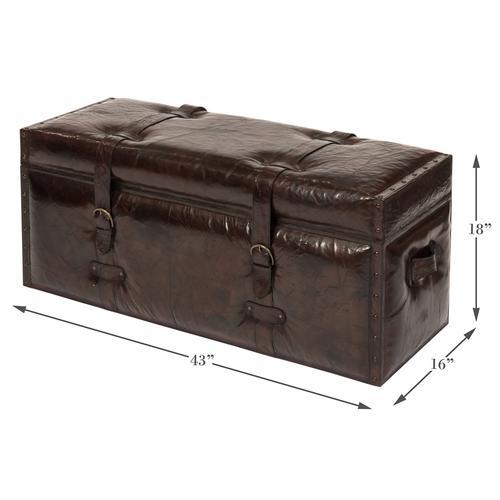 Laramie Leather Trunk Bench