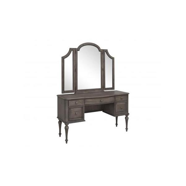 Highland Park Vanity Desk, Waxed Driftwood