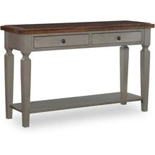 Sofa Table in Hickory & Stone