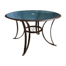 "Palm Bay 48"" Round Dining Table w/glass"