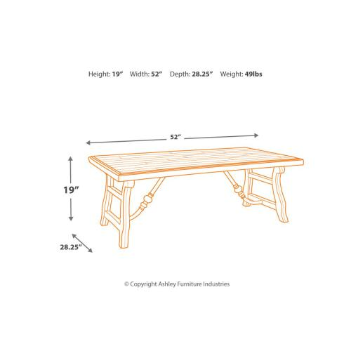T824-1  Rectangular Cocktail Table