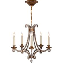 Visual Comfort CHC1559GI-CG E. F. Chapman Oslo 5 Light 17 inch Gilded Iron Chandelier Ceiling Light