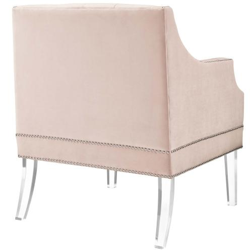 Proverbial Armchair Performance Velvet Set of 2 in Pink