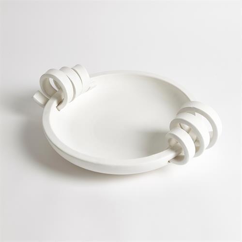 Ribbon Handle Compote-Matte White
