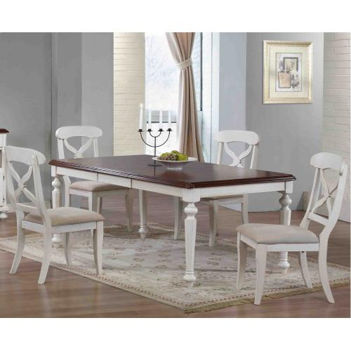 Butterfly Leaf Dining Set - Antique White (5 Piece)