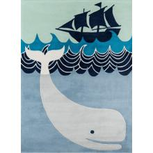 Lil Mo Whimsy Whale's Tail Lmj-27 Multi Blue - 2.0 x 3.0