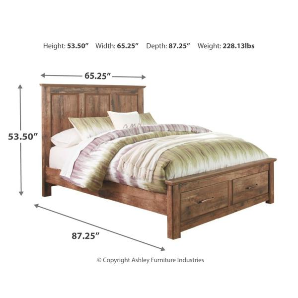 Blaneville Queen Panel Bed With 2 Storage Drawers