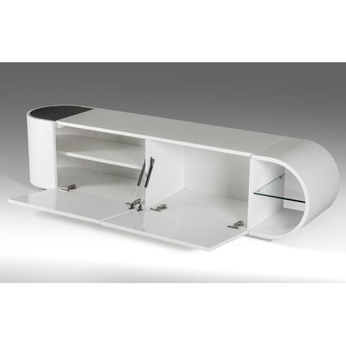 Modrest Nelly - Modern White Glossy TV Stand