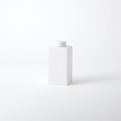 Grid Texture Jar-White-XLg