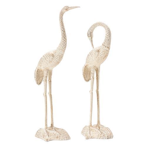 Destin Pair of Standing Cranes,Set of 2