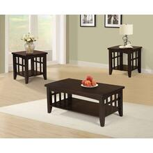 Elvira 3pc Coffee Table Set