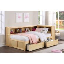 Twin Bookcase Bed with Storage Boxes