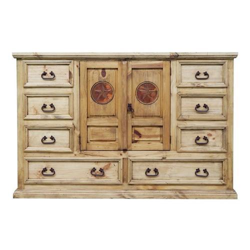 Mansion Dresser W/ Copper Star