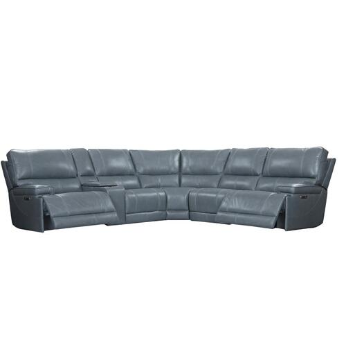 Verona Azure Power Reclining Sectional