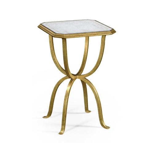 glomise & Gilded Iron Octagonal Side Table