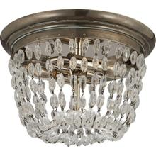 Visual Comfort CHC4206SHS-SG E F Chapman Paris Flea Market 2 Light 10 inch Sheffield Silver Flush Mount Ceiling Light