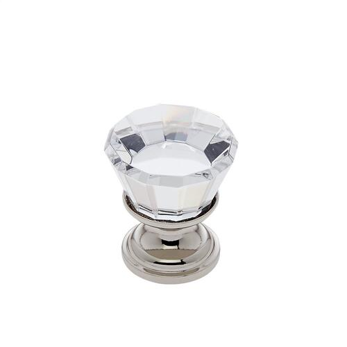 Polished Nickel 22 mm Flat Top Crystal Knob