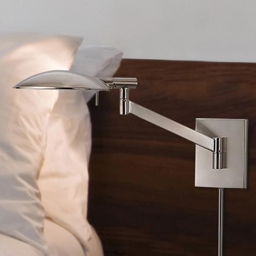 Sonneman - A Way of Light - Perch Swing Arm Wall Lamp [Color/Finish=Satin Nickel]