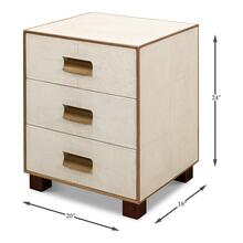 See Details - Shagreen 3 Drawer Side Table,Osprey Wht
