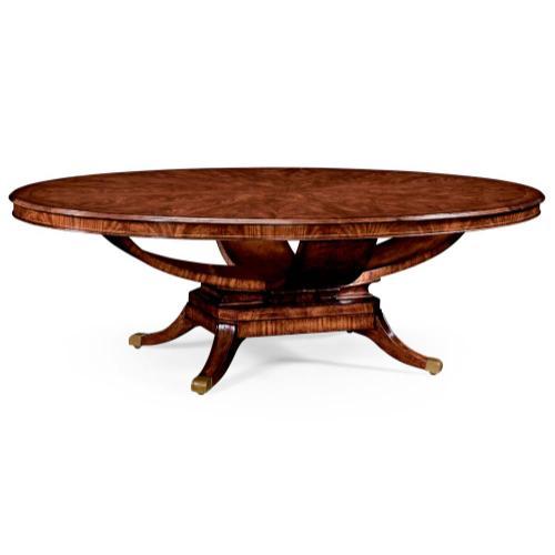 "Biedermeier style mahogany oval dining table (120"")"