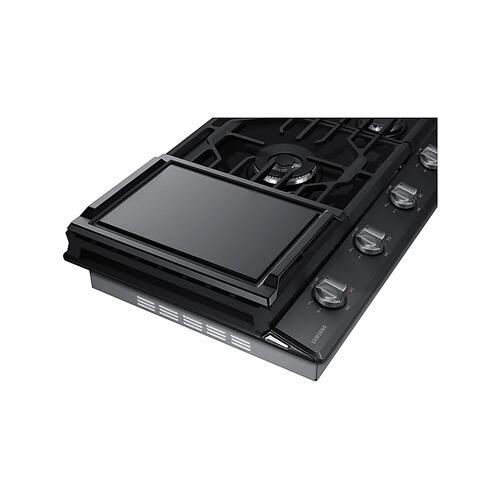 "36"" Gas Cooktop in Black Stainless Steel"