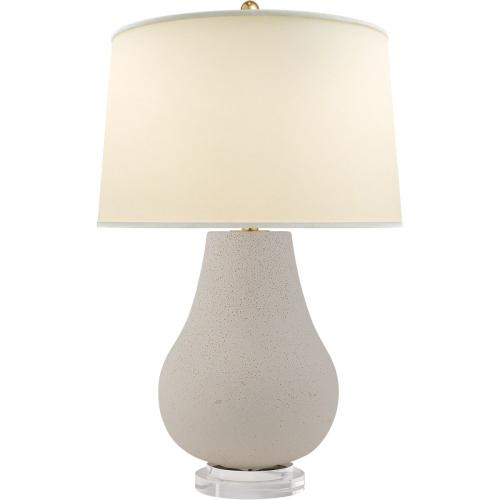 Visual Comfort CHA8658VI-PL E. F. Chapman Arica 29 inch 150 watt Volcanic Ivory Table Lamp Portable Light, E.F. Chapman, Large, Pot, Chinese, Base, Natural Percale Shade
