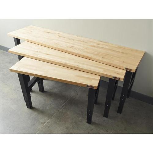 Gladiator - 4' Adjustable Height Hardwood Workbench