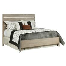 Incline Oak Queen Bed Medium Footboard - Complete