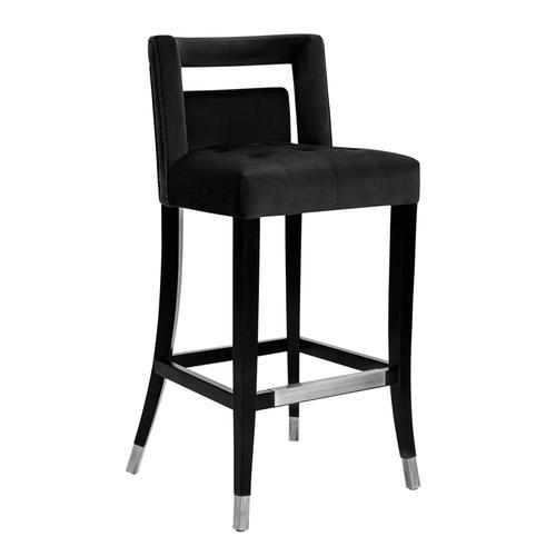 Tov Furniture - Hart Black Velvet Bar Stool