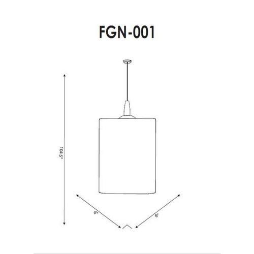 """Finnegan FGN-001 8""""H x 6""""W x 6""""D"""