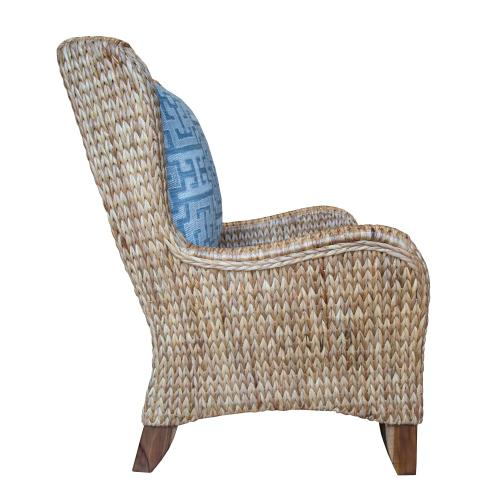 Occasional Chair, Available in Water Hyacinth Finish Only.
