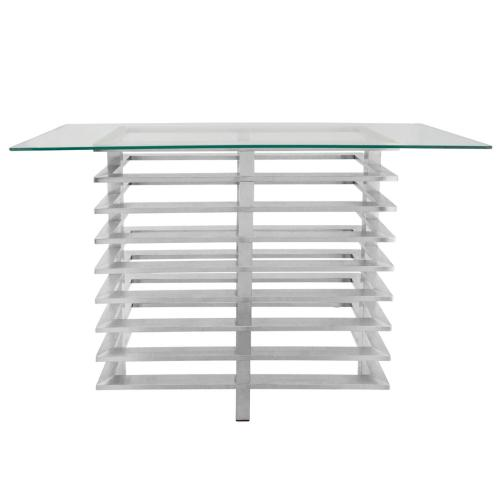Metal Stacked Console Table, Silver